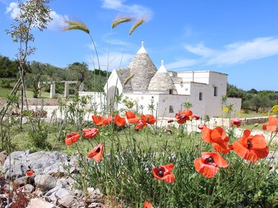 Photo for An Ancient Trullo With Pool Nestled With Views Over A Beautiful  Private Valley
