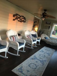 Sun porch in the morning.