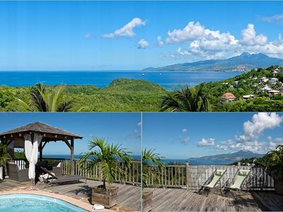 Photo for Charming Villa with Pool and Sea View Unobstructed Caribbean