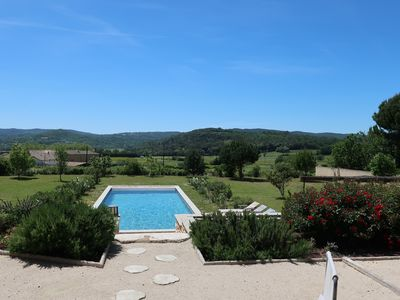 Photo for Between Avignon and Uzès, 7 bedrooms, private pool, close to the river.