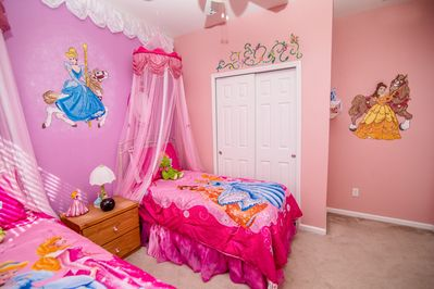 View 2 of Princess Themed Room (2 twin beds)