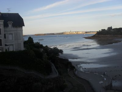Photo for Dinard, Apartment 5 persons, sea view, direct beach access