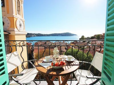 Photo for Large sea view-Balcony-Villefranche sur mer