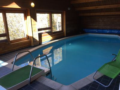 Photo for Chalet with SWIMMING POOL + SAUNA