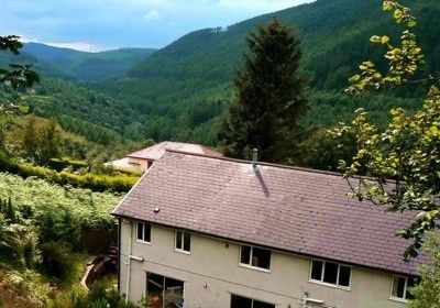 View of Afan Valley from Windways garden