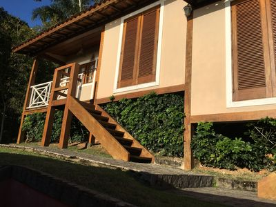 Photo for Chalet 2 a 80 mt. from the beach of Curral in Ilhabela. Magnificent view of the sea !!