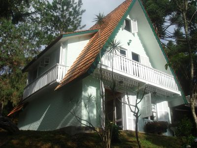 Photo for Chalet with 4 bedrooms. + Loft, fireplace, pool and gardens, for 12 people