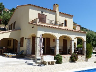 Photo for A luxury secluded detached villa with private pool and free fast broadband WiFi