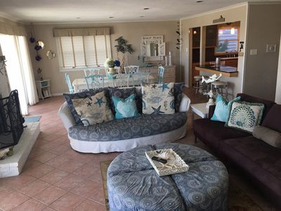 Photo for BEACHFRONT SHABBY CHIC LUXURY HOME - on the sand!
