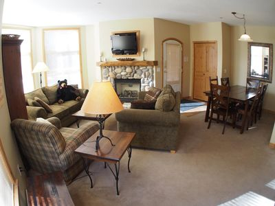 Photo for Multi level 3 bedroom condo with easy access to ski runs and view of Mt. Morrisey