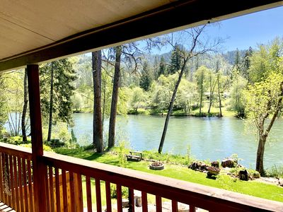 """Photo for *NEW* """"Cabin on The Rogue""""- Fishing, Rafting, Gateway to Crater Lake! sleeps 2-4"""