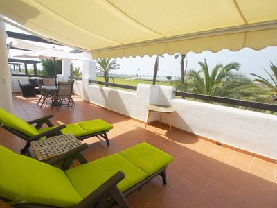 Photo for Penthouse overlooking Mar Menor golf course. FREE WIFI. Lovely swimming pool.