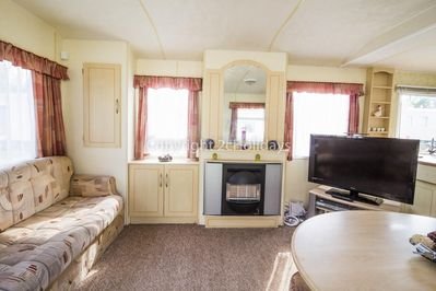 Affordable static caravan for hire at Wild Duck Holiday Park