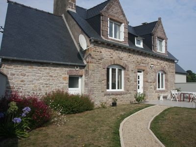 Photo for very calm lodging with exceptional sea view on Bréhat and the bay of Paimpol