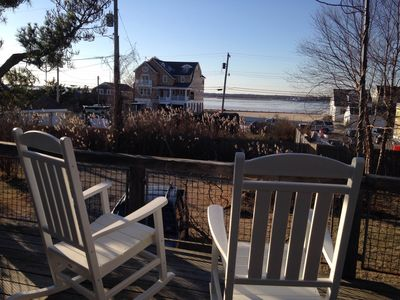 Photo for Great family-friendly Mantoloking 5 BR home near beach with amazing bay views