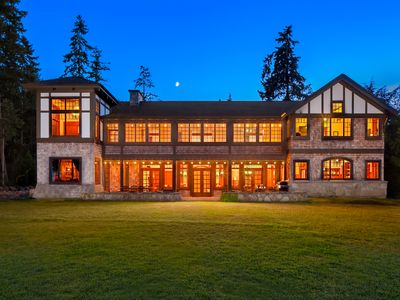 Photo for Oceanfront Estate: Private Beach & Seattle View: Perfect For Families & Retreats