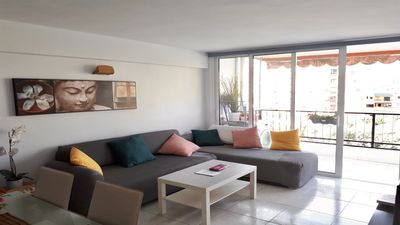 Photo for 3min walking to the BEACH renovated charming apartment with spacious terrace