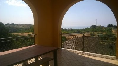 Photo for Typical Sicilian country house surrounded by olive trees and vineyards