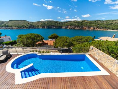 Photo for Alexandra: Spectacular villa with stunning sea view in Cala Montgó