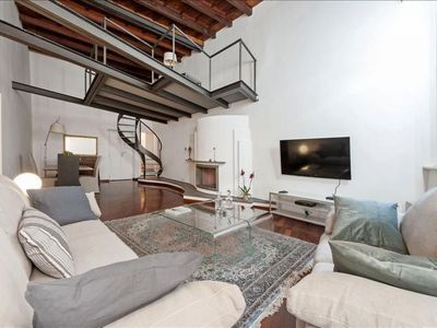 Photo for Spacious Volpe apartment in Centro Storico with WiFi & air conditioning.