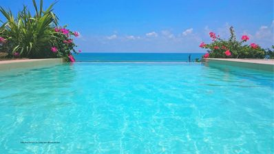 Photo for Beach front villa near Matara with AC, pool, service included