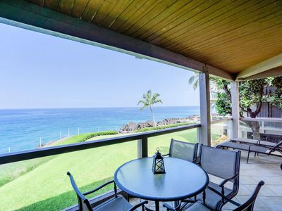 Photo for Oceanfront Escape w/ Lanai, Washer, Dryer, Shared Pool Area- Kailua Kona