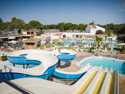 Photo for Mobile home, sleeps 8, in Argeles sur mer with pool, air conditioning and TV