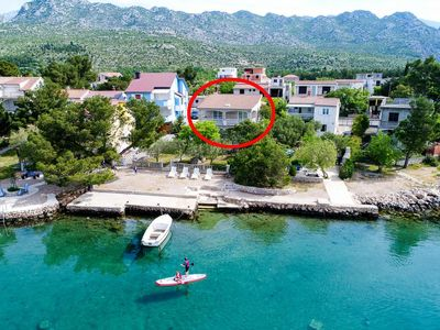 Photo for Apartment in Seline (Paklenica), capacity 2+2