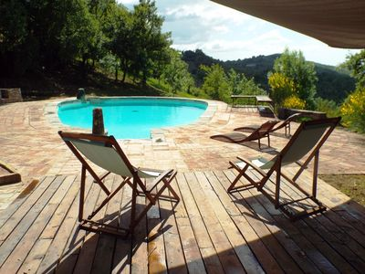 Photo for studio apartment in farmhouse with pool