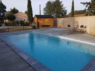 Photo for CHARMING HOUSE AT THE FOOT OF LUBÉRON STUDIO 4 PEOPLE SWIMMING POOL AND SPA