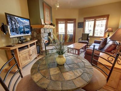 Photo for You'll love the mountain decor of this 1 bedroom condo right in River Run Village, just a quick walk to the gondola. This condo makes it easy to come back and enjoy lunch at the condo while taking a quick break from skiing. The Dakota Lodge's pool and hot