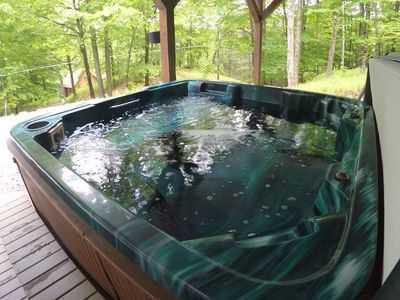 Photo for Spacious Home with Hot Tub at Lake Wallenpaupack! GRILL FIRE PIT BEST BEACH!
