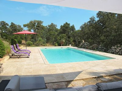 Photo for Lovely apartment for 9 guests with WIFI, private pool, TV, balcony, pets allowed and parking