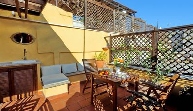 Photo for Rome, near the Colosseum, romantic attic with a splendid roof terrace