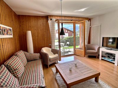 Photo for Perfect in summer with his sunny terrace with furniture and beautiful view on the Dents du Midi, 2 b