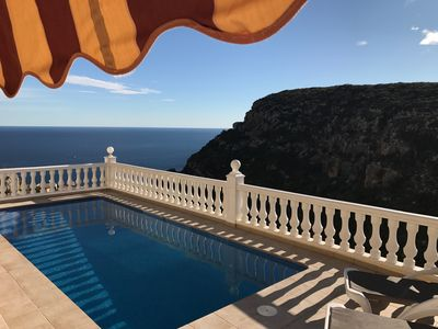 Photo for Casa Windlenook - 5 Star Villa, Fab Sea + Mountain views, Heated Pool, WiFi, A/C