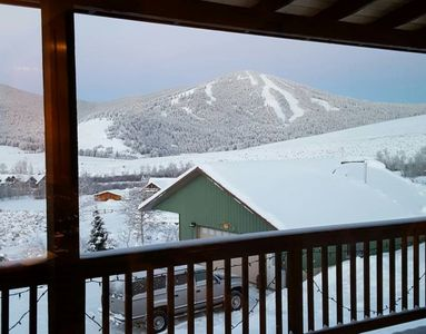 View from the Covered Deck looking at Maverick Mountain Ski HIll.