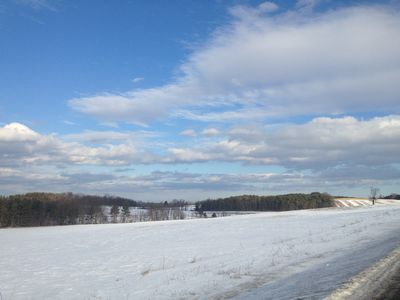 A crisp clear winter day on our farm