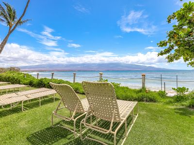 Photo for Oceanfront condo in Maalaea: lanai, lovely views & shared pool- steps to beach!