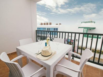 Photo for Comfortable sea view apartment in central Playa Blanca - Sara N° 5