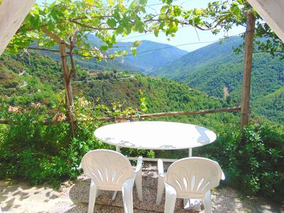 Photo for Idyll. Apartment herrl. View, tranquility, nature, garden with jacuzzi