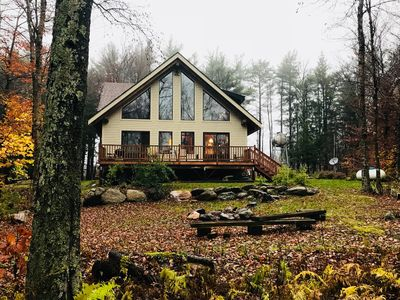 Swiss Chalet Style Timber Frame Home In Berkshires With
