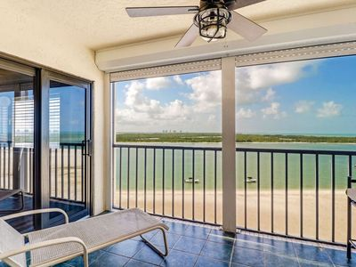 Photo for Steps to Beach! Panoramic Gulf & Bay Views from 9th Floor Lanai, Free Parking & Wifi - Newly Listed