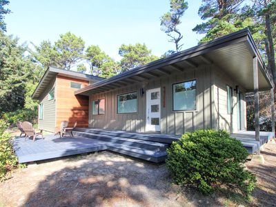 Photo for Stunning new home w/ a furnished deck & easy beach access!