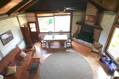 looking down from the loft