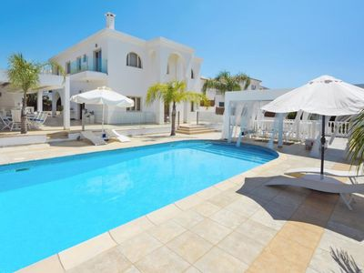 Photo for This 6-bedroom villa for up to 11 guests is located in Paralimni and has a private swimming pool, ai