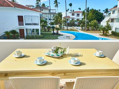 Photo for Los Corales. Close to Everything. Free WiFi, pool, parking. La Terraza B3