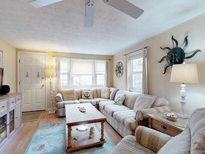 Photo for Cozy Cape home w/ fenced backyard, grill & AC - short walk to the beach!