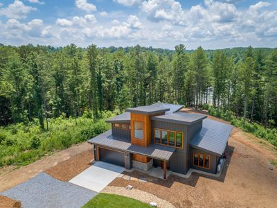 Photo for Modern Waterfront home at Lake James! Enjoy scenic trails by the water & firepit
