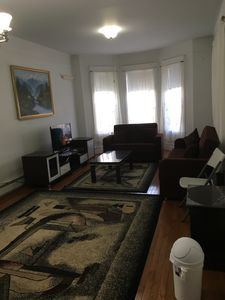 Large living room with 3 Sofa-beds, TV